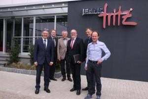 Von links: Achim Post (MdB), Bernd Rührup, Bürgermeister Wilhelm Henke, Ernst-Wilhelm Rahe (MdL), Frank Eickmeier, Ernst Schäfer