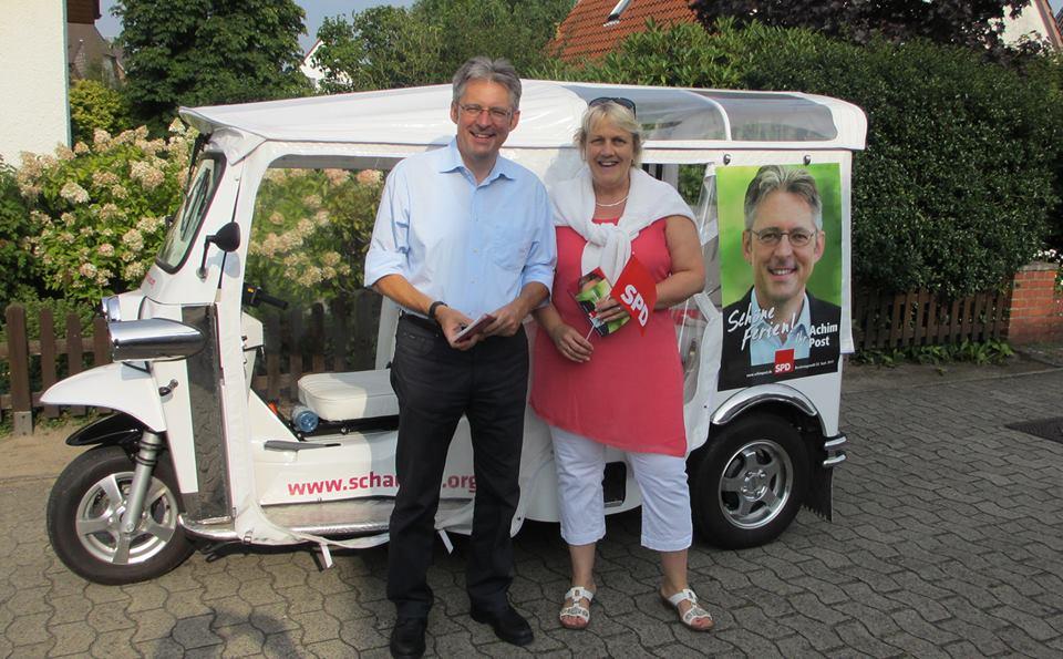 Achim Post und die stv. Fraktionsvorsitzende der SPD Rahden Marion Spreen