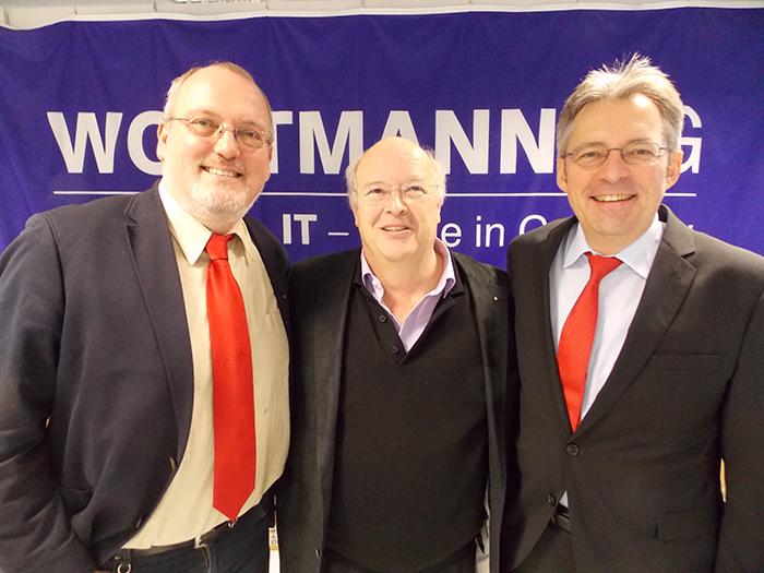 von links nach rechts: Ernst-Wilhelm Rahe, Siegbert Wortmann und Achim Post