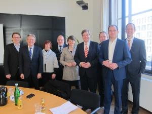 Nordbahntreffen: Abgeordnete aus NRW und Niedersachsen im Gespräch mit dem Parlamentarischen Staatssekretär Enak Ferlemann im Bundesverkehrsministerium