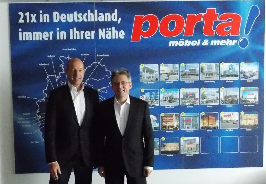 Porta-Unternehmenssprecher Kurt Jox, & Achim Post