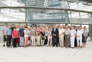 Minden-Lübbecker zu Besuch im Deutschen Bundestag (Foto: Arge GF-BT GbR)