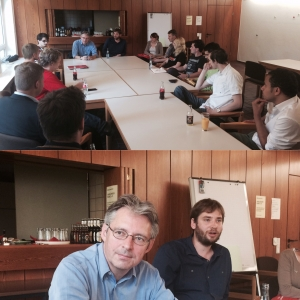 MdB Achim Post im Gespräch über Griechenland mit dem Regionalvorstand der Jusos in Ostwestfalen-Lippe